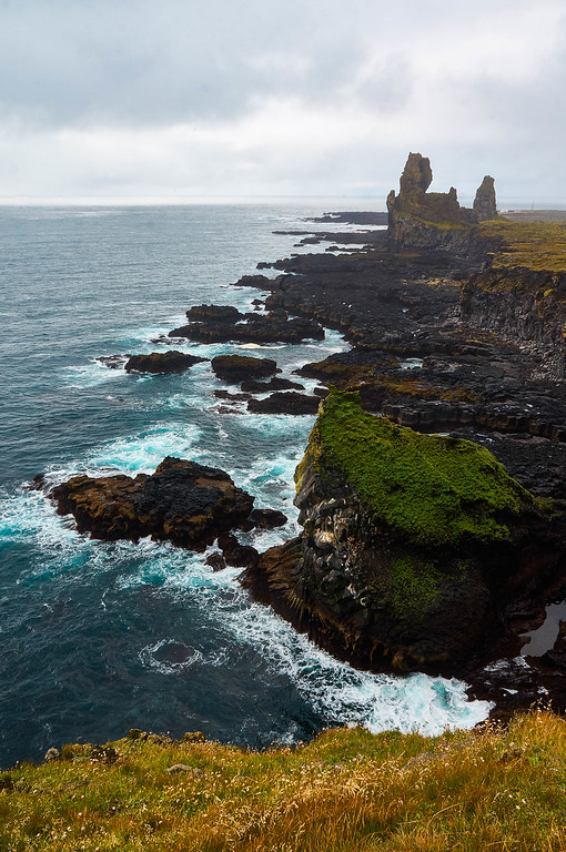 The sea cliffs at Londrangar, Iceland