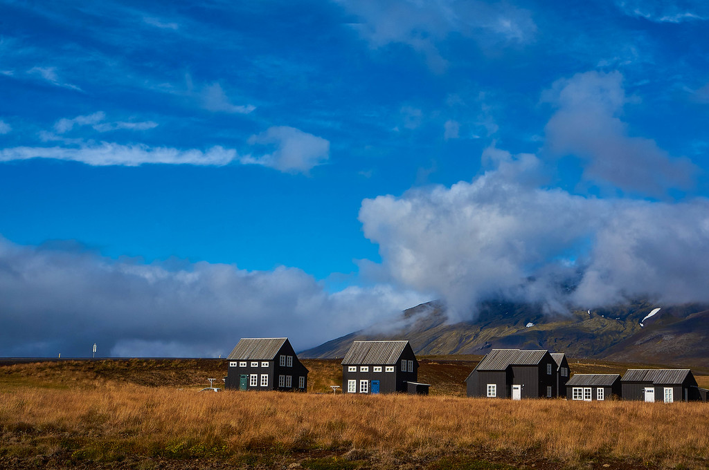 Pretty houses in Iceland