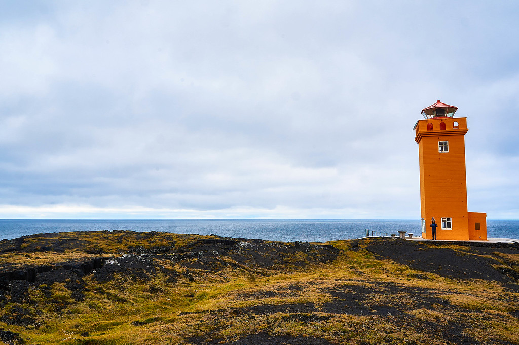 The Skálasnaga lighthouse in Iceland