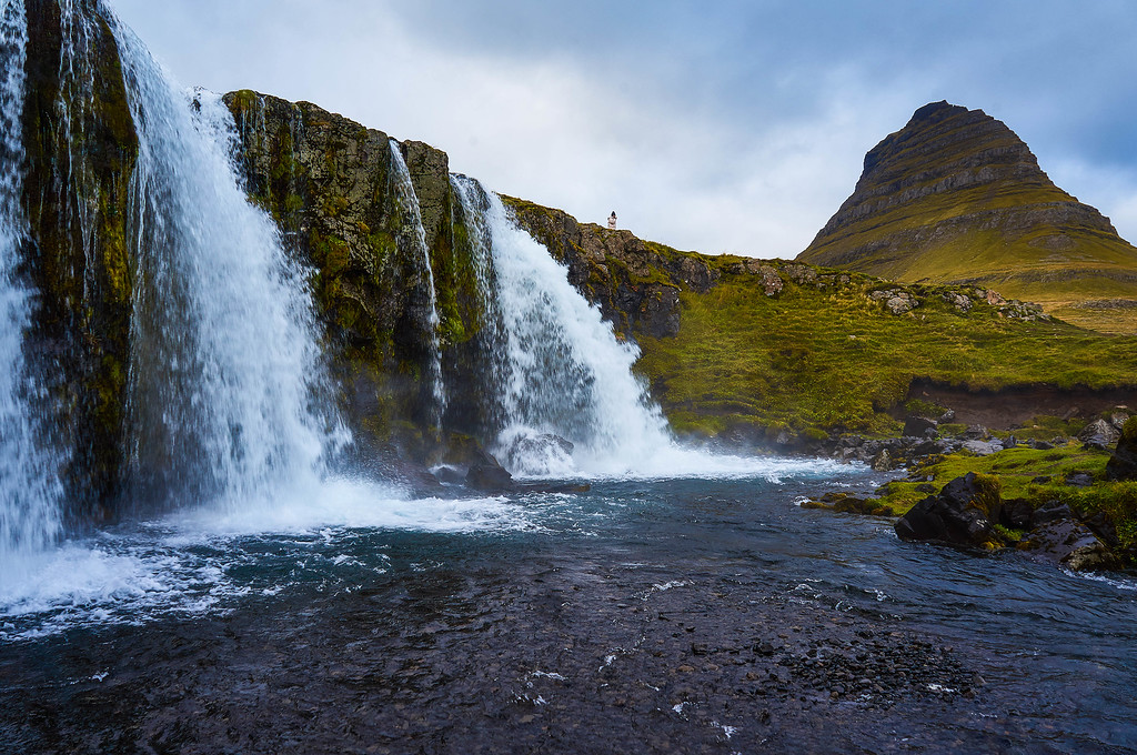 Iconic view in Iceland at Kirkjufellsfoss