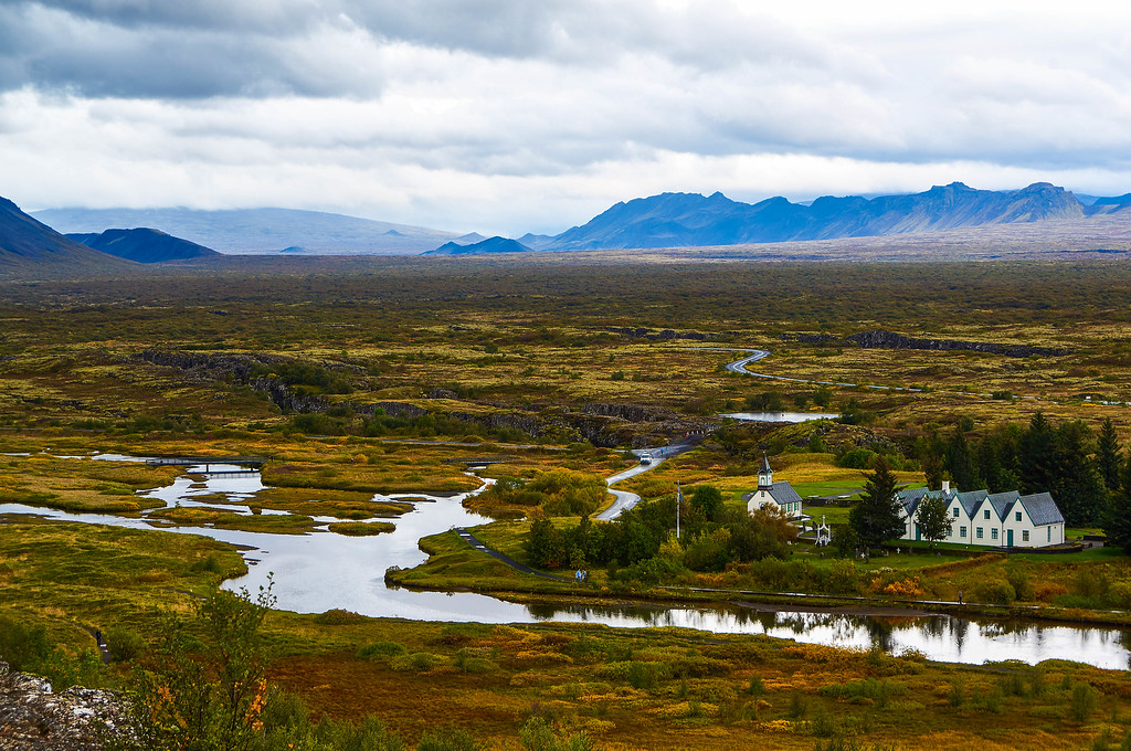 Stunning views in Þingvellir, Iceland