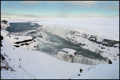 Gulfoss in winter