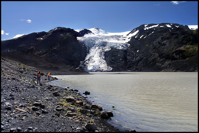 Glacial lagoon at Eyjafjallajökull