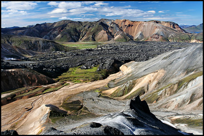 View of lava flow, Landmannalaugar