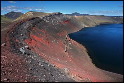 Ljótipollur crater lake, Landmannalaugar