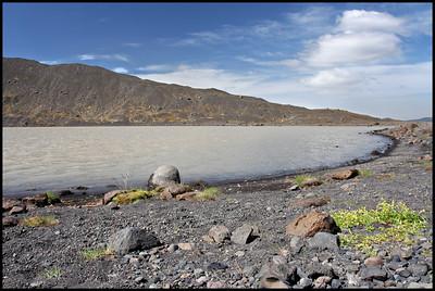 Glacial lagoon at Eyjafjallajökull, near Thorsmork