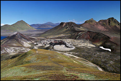 Craters in Landmannalaugar
