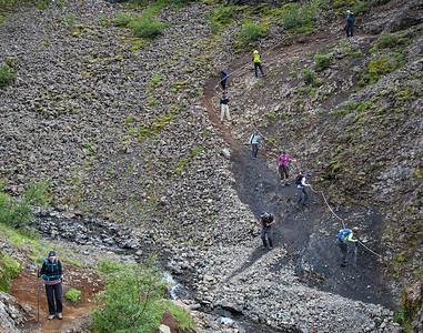 Glymur Falls Trail, Iceland