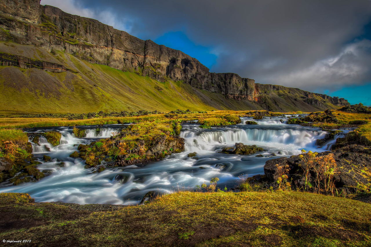 Landscapes change often in iceland