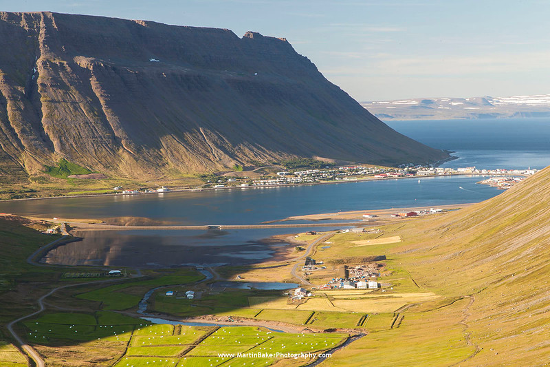 Ísafjörður, Skutulsfjörður, Iceland.