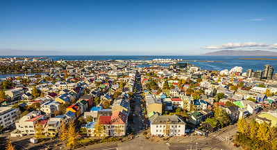 Reykjavik in Iceland viewed from above