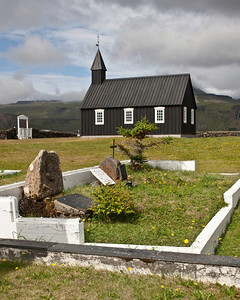 Small churches with small graveyards dot the countryside