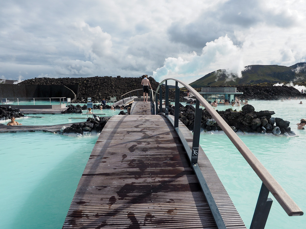 Blue Lagoon walkway in Iceland