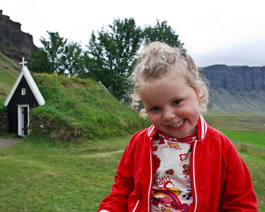 One of the beautiful Icelandic girls, shy at first, but happy to welcome you to her country.