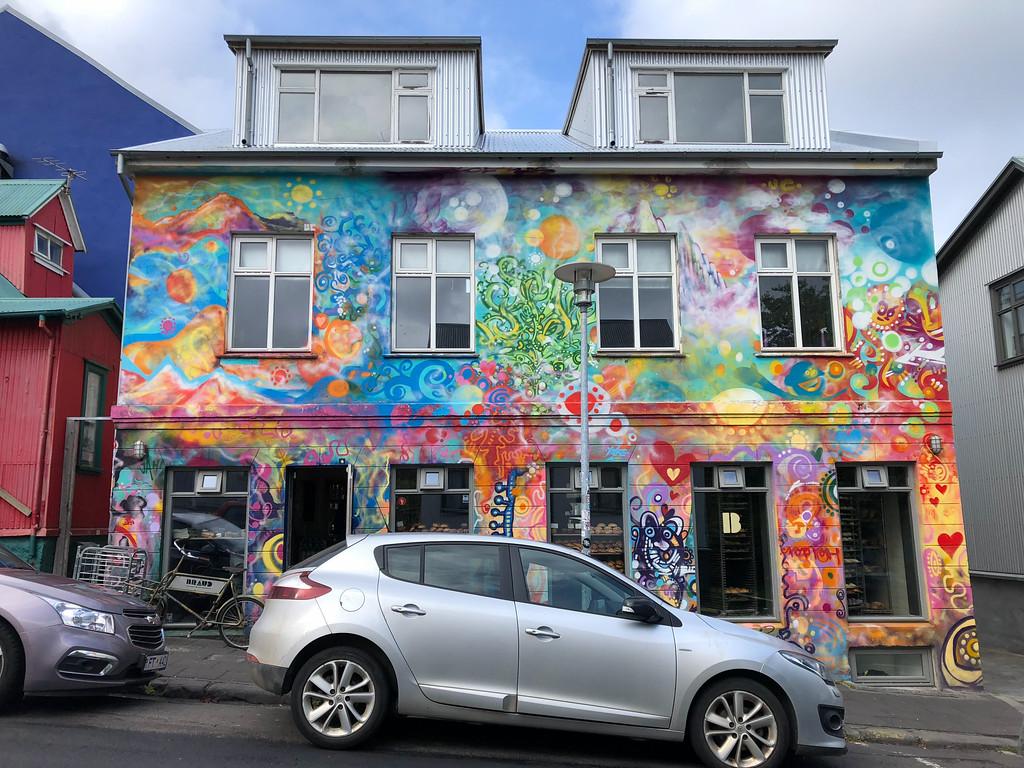 Colorful building in Reykjavik