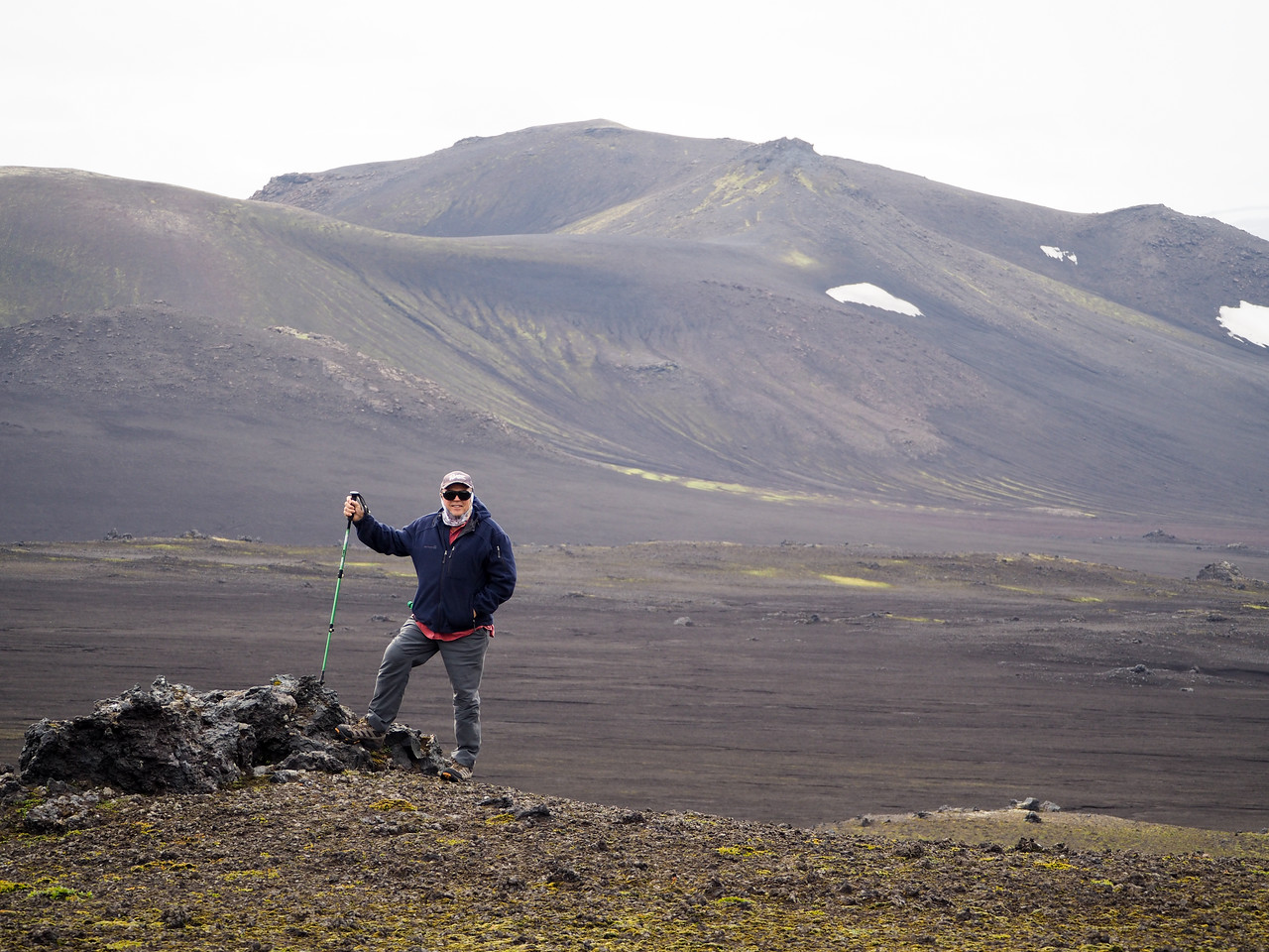 Dad hiking in Iceland
