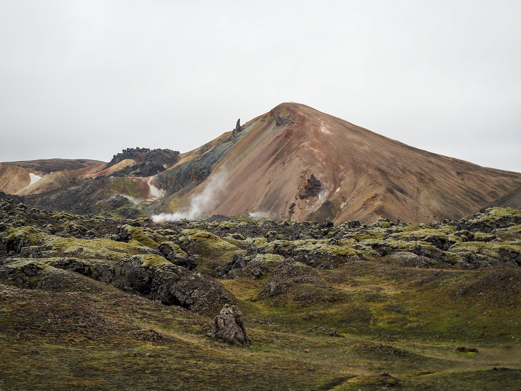 Rainbow mountain in Landmannalaugar