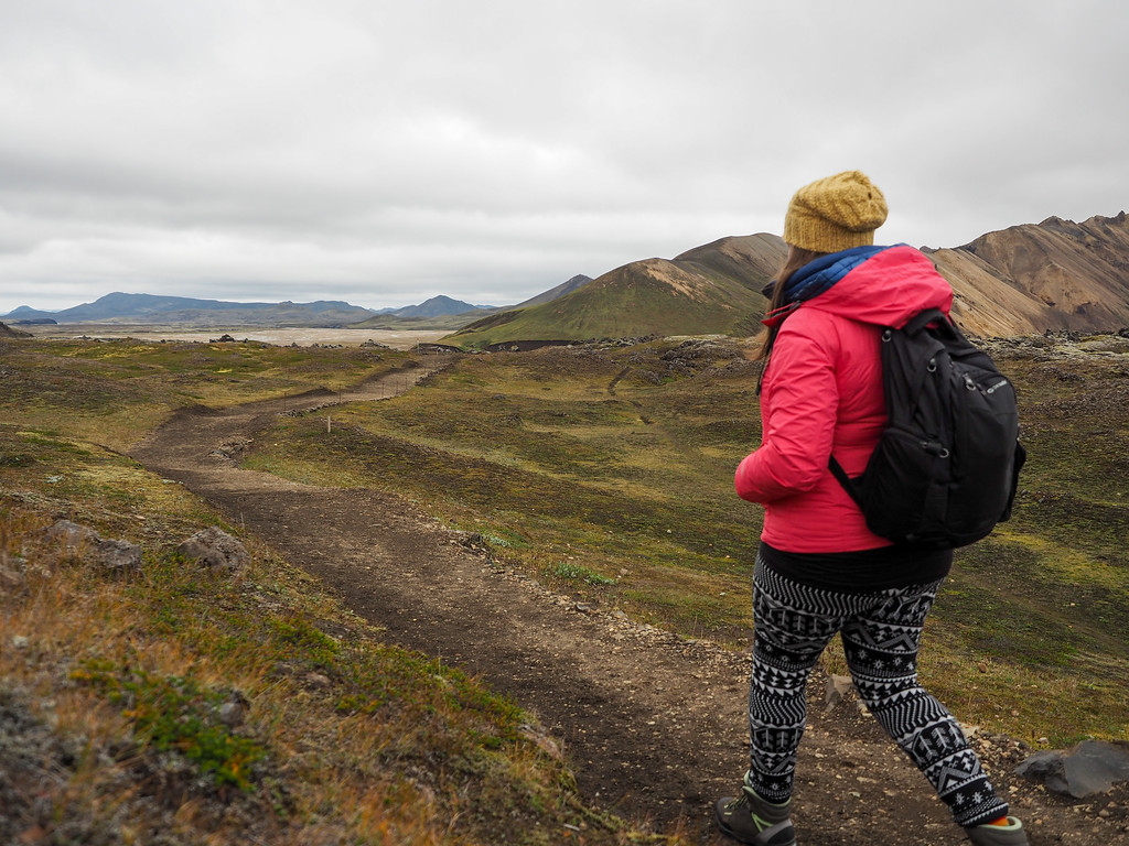 Hiking in Landmannalaugar in Iceland