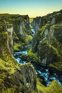 Fjadrargljufur canyon and river in south east Iceland