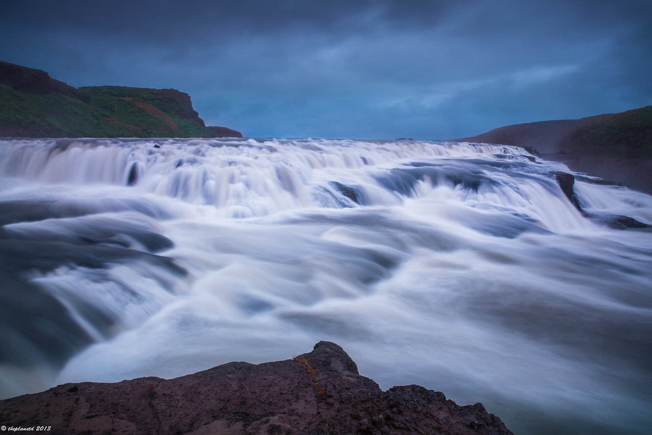 A different view of Gullfoss on a stormy day.