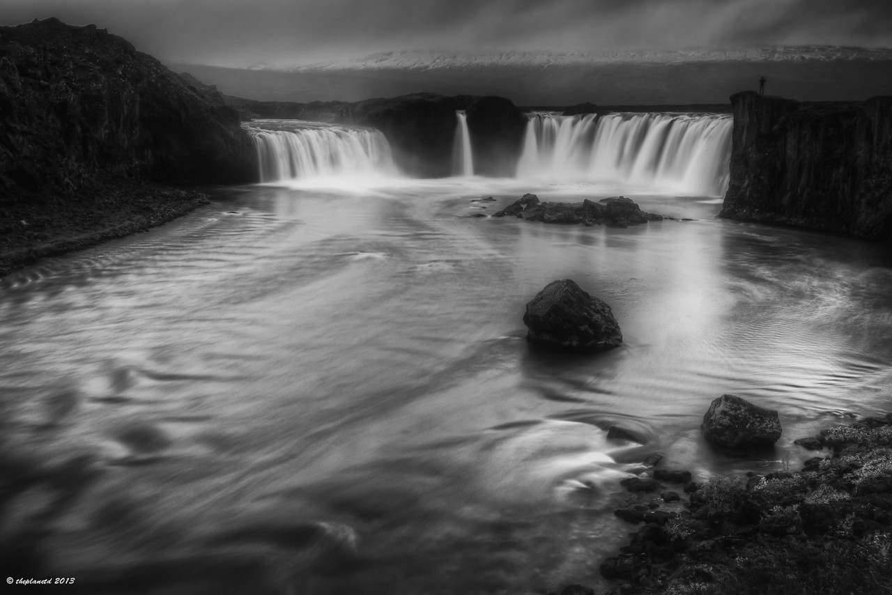 The wind was blowing and rain was falling when we got to Godafoss but managed to get off one shot!