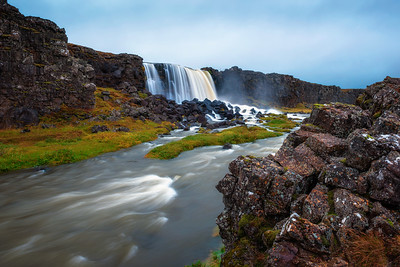 Oxarafoss waterfall in Iceland
