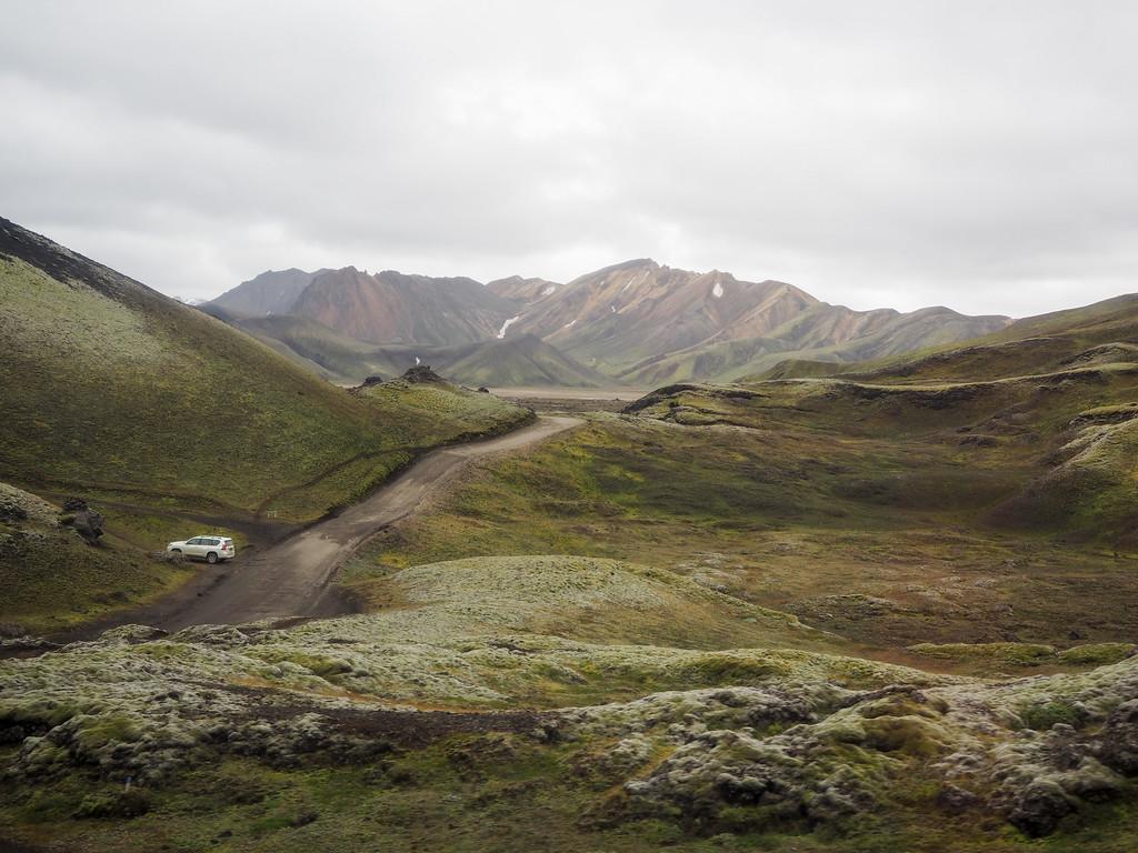 Heading into Landmannalaugar