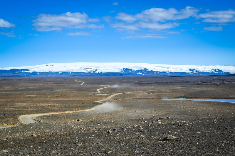 The Kjölur road through the Highlands