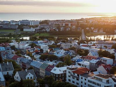 Reykjavik sunset from Hallgrímskirkja