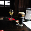 A pint of Guinness in the actual, famous Temple Bar in the Temple Bar area of Dublin.