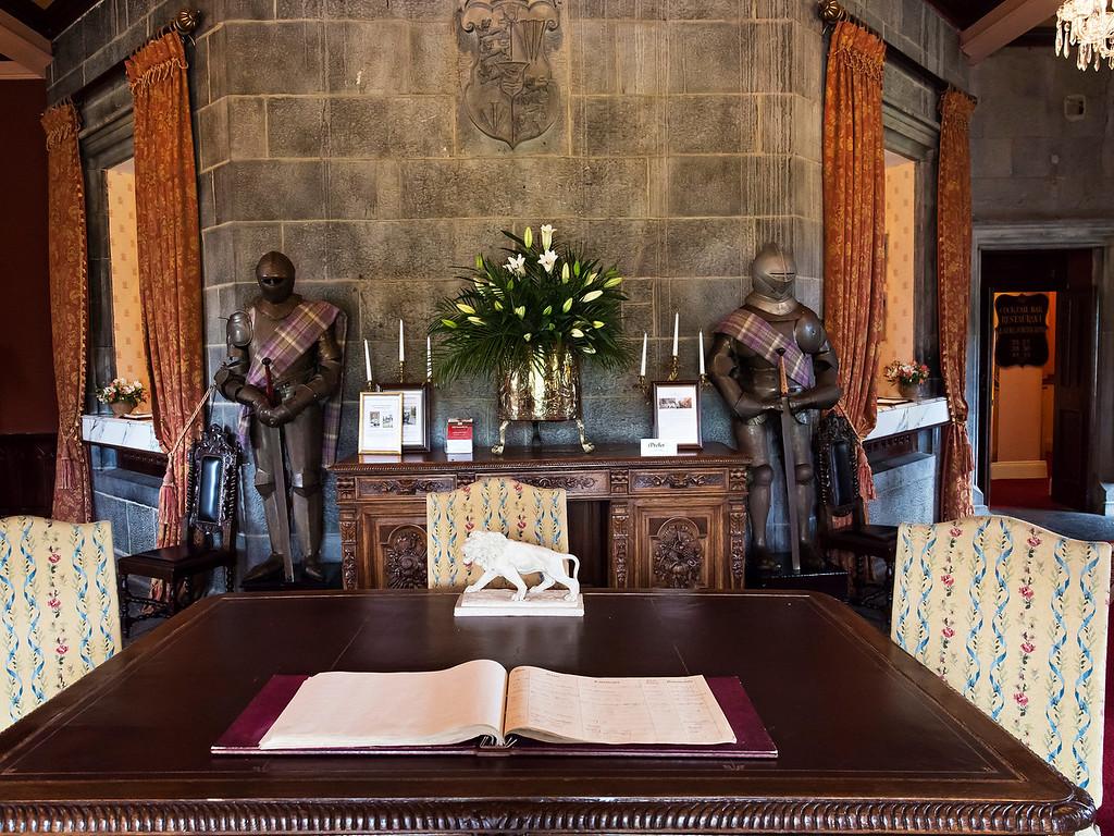 Registration Desk at Dromoland Castle