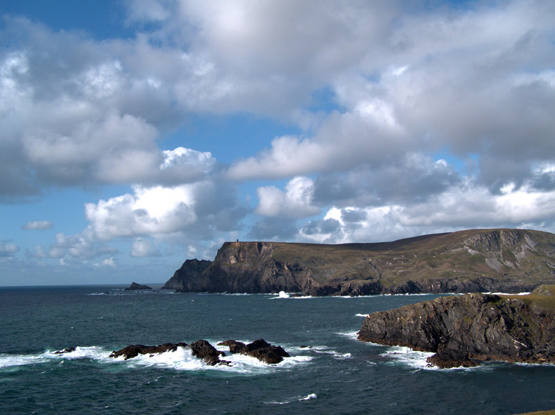 Coast at Glencolumbkille, Donegal.  The area around Glencolumbkille in southwestern Donegal is rugged and very beautiful.