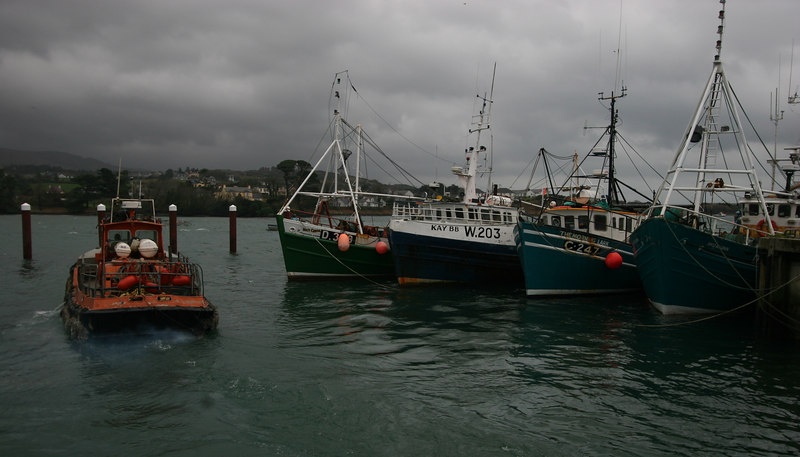 Fishing boats and tug, Castletownbere
