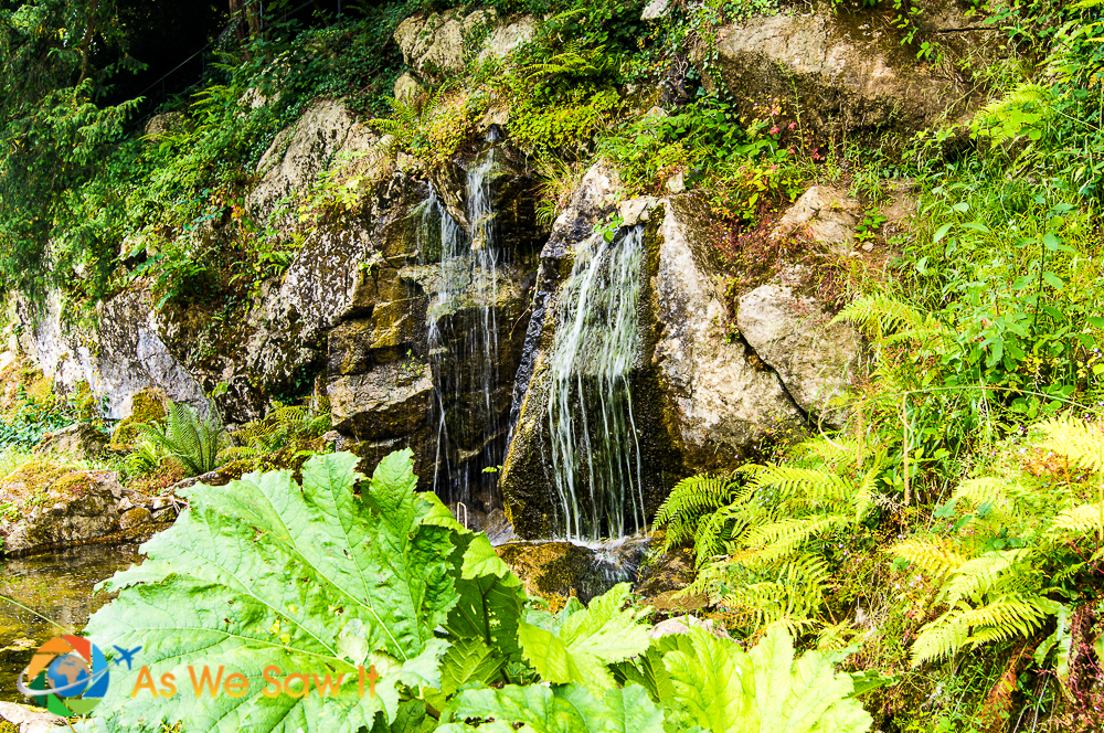 Waterfall in Rock Close, Blarney Castle grounds