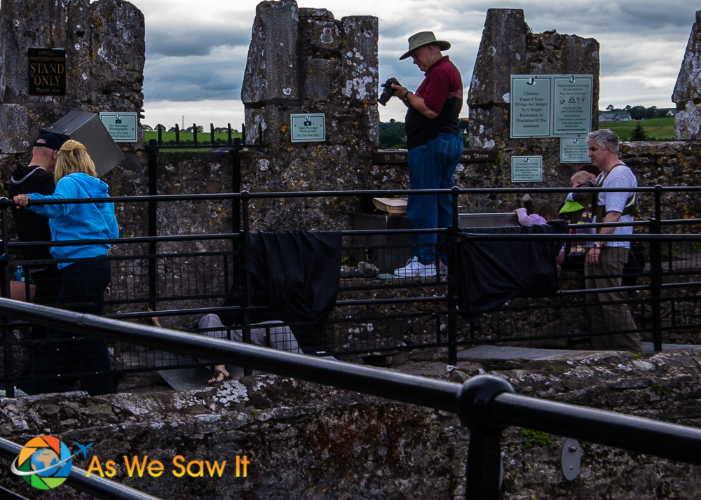 Kissing the Blarney Stone: The setup around the event.