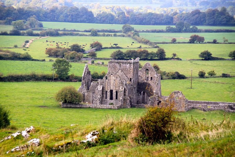ruins of a Cistercian monastery near the Rock of Cashel