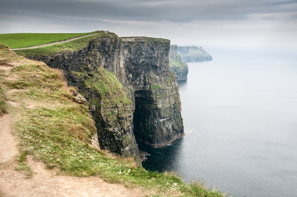 The Path Along the Cliffs of Moher, Ireland