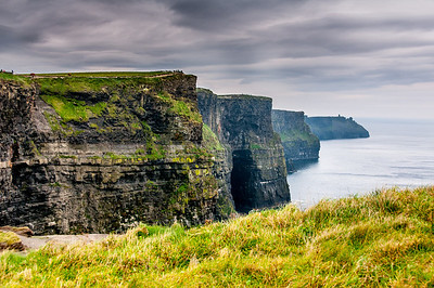 Beautiful but dangerous cliffs at Cliffs of Moher in Ireland