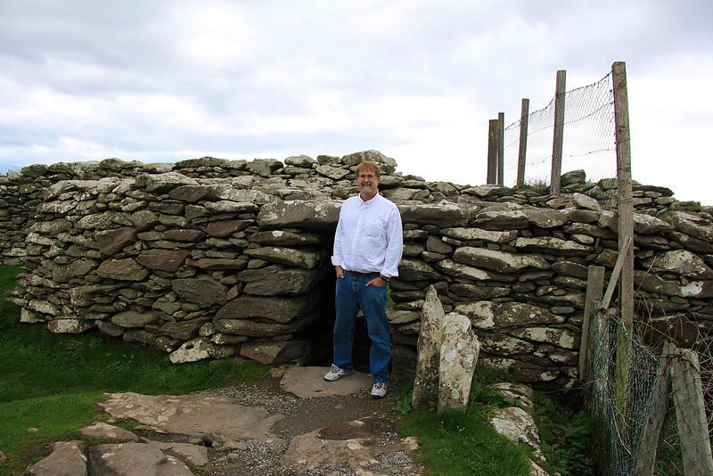 Chris outside an Iron Age Ring Fort, Dingle Peninsula, Ireland