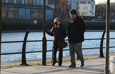 Terri & Chris, along the Liffey, Dublin Ireland