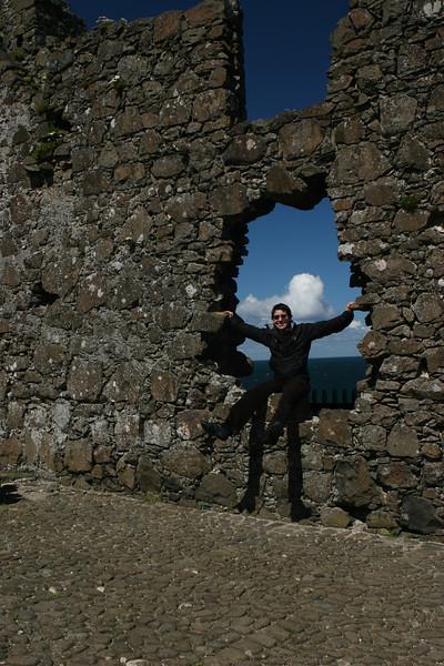 Paula at Dunluce Castle, Northern Ireland