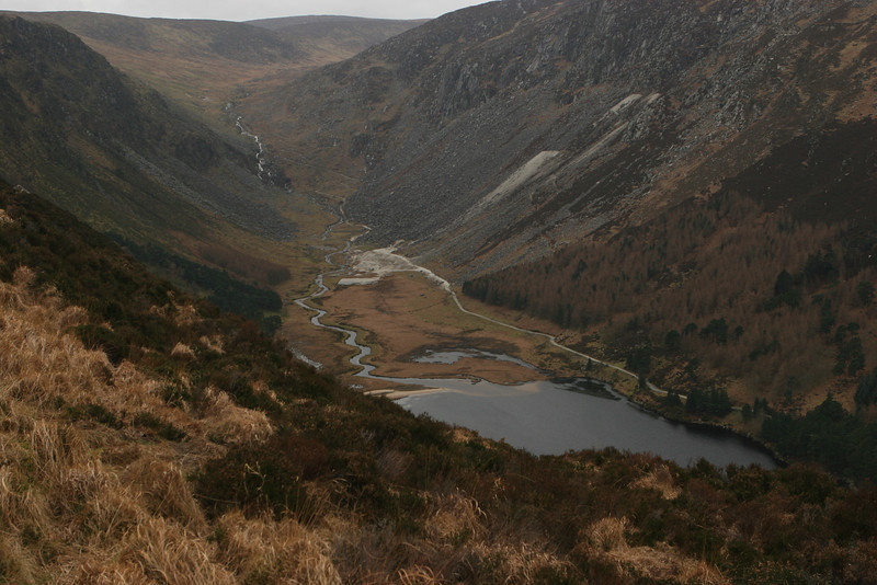 View from the Spink, Glendalough