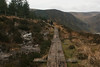 Wooden trail atop the Spink, Glendalough