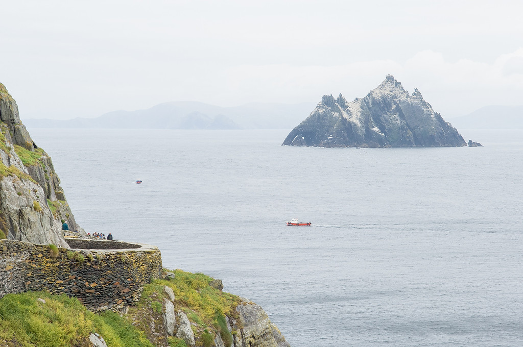 View of Small Skellig Island from Skellig Michael Island