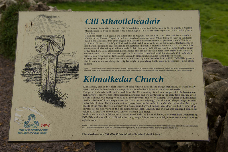 Kilmalkedar Church, Dingle Peninsula