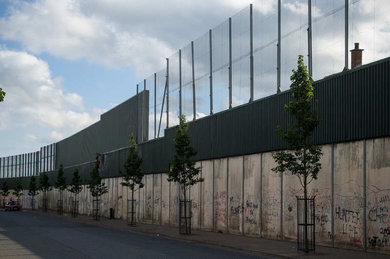 Wall Separating Shankhill & Falls Road  Neighborhoods, Belfast