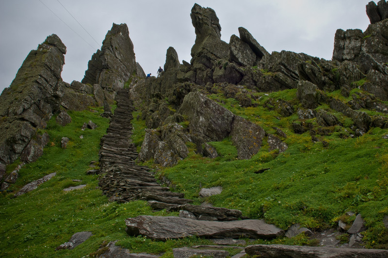 Steps to Skellig Island