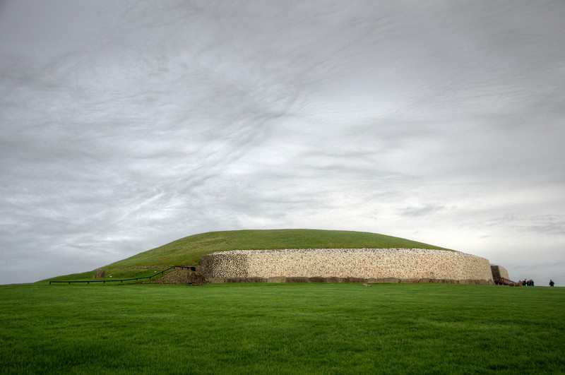 Wide shot of Newgrange in Ireland
