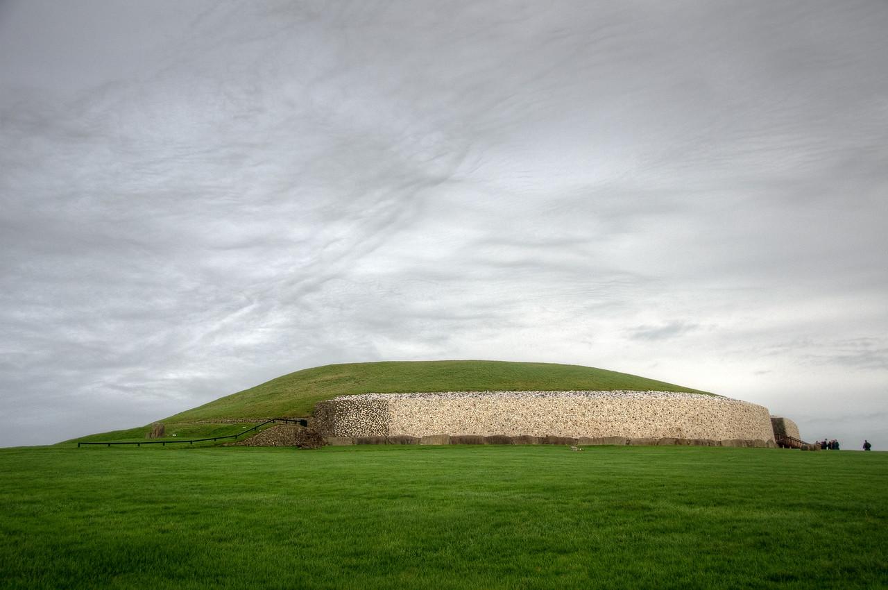 Wide shot of Newgrange in Ireland