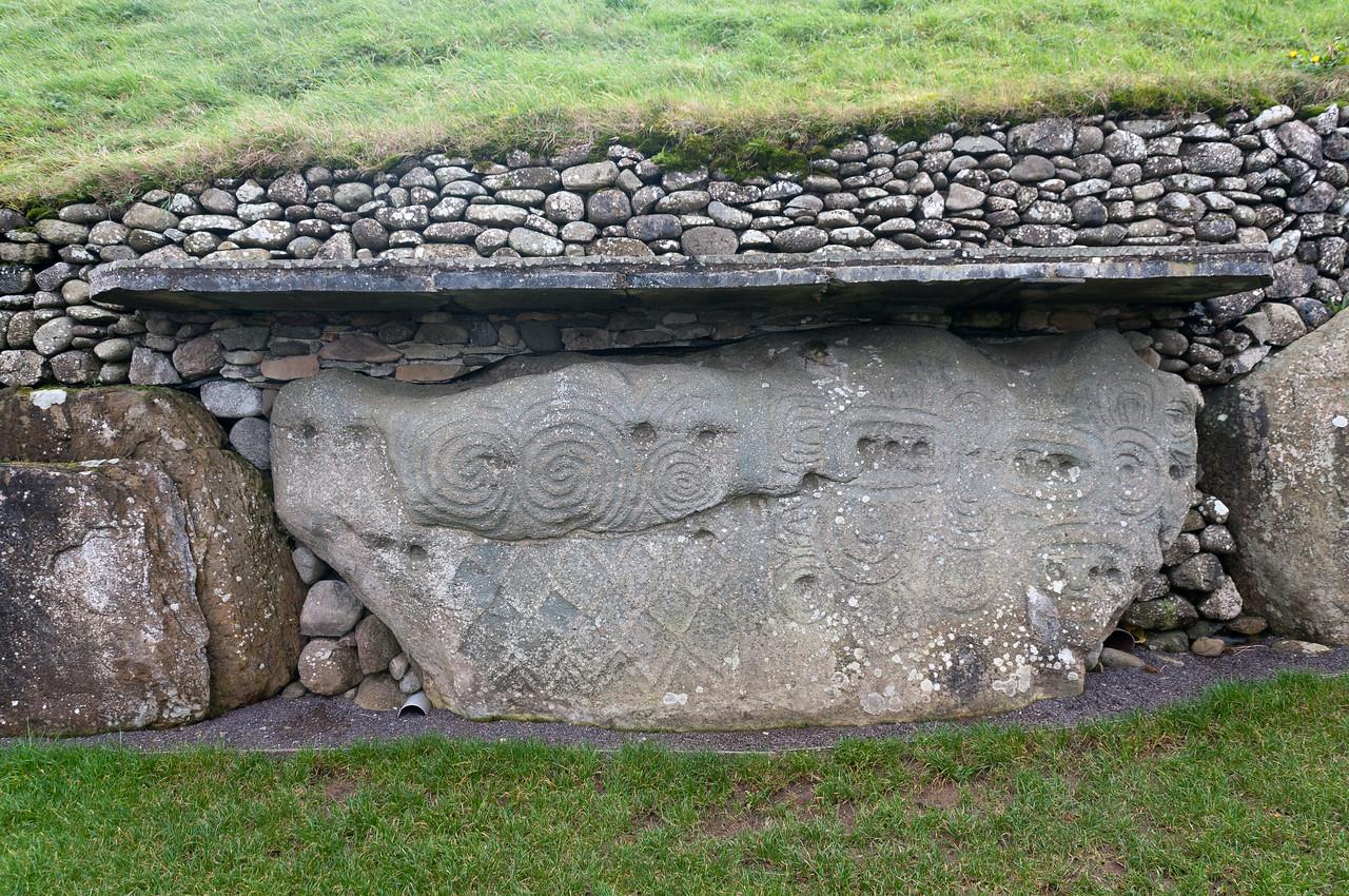 Stone fortress at Newgrange in County Meath, Ireland